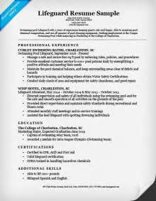 lifeguard skills for resume lifeguard resume
