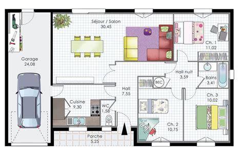 plan de maison gratuit 3 chambres plan maison etage 3 chambres gratuit 12 plan de maison