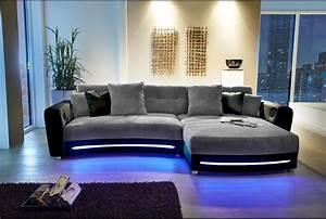 Sofa Mit Boxen Und Led : wohnlandschaft mit led g nstig bestelln lifestyle4living ~ Bigdaddyawards.com Haus und Dekorationen