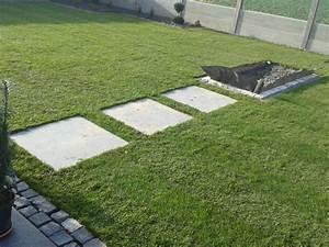 Platten Für Garten : garten platten rollrasen kiesbeet betonzaun ~ Orissabook.com Haus und Dekorationen