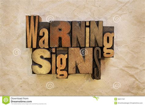 Warning Signs Royalty Free Stock Photography Image 36017167