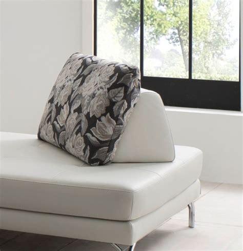 dossier de canapé dossier amovible avec coussin intégré elements en cuir