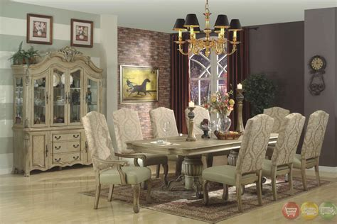 Traditional Antique White Formal Dining Room Furniture Set Antique Pie Safes Brass Shower Curtain Rod Globes For Sale Mirrored Chest Online Store Hurricane Lamp King Size Headboard Stores In Tucson