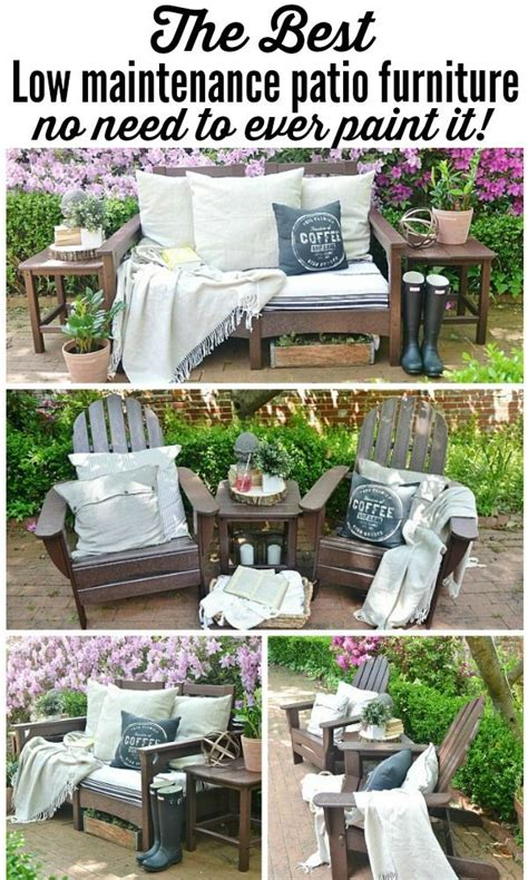 the best low maintenance patio furniture easy to clean