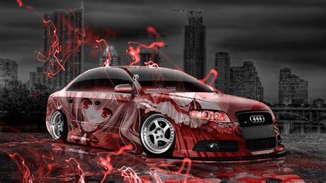 audi  tuning anime aerography city car  el tony
