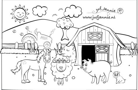 Kleurplaat We Hebben Er Een Geitje Bij by Kleurplaten De Kinderboerderij