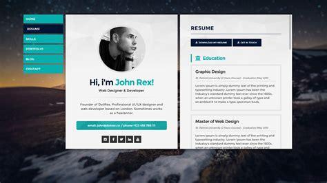 Best Resume Websites by Personal Resume Websites 15 Best Free Resume Cv Website Te