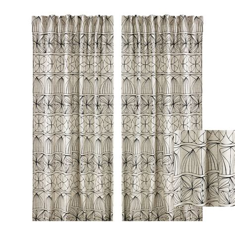 Geometric Pattern Curtains Canada by Ikea Ryssby 2014 Curtains Drapes Black Beige