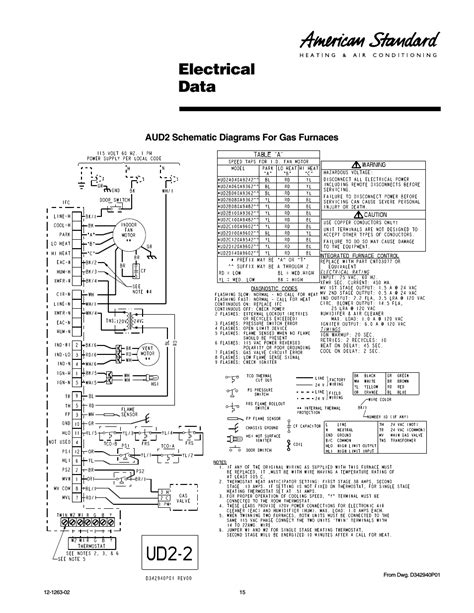 electrical data american standard freedom  user manual