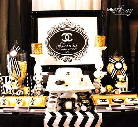 fabulous  classy coco chanel party birthday party