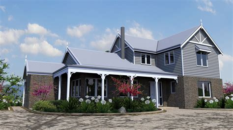 home floor plans cost to tallangatta house mod brick and weatherboard cottage