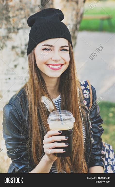 Cool Teenage Girl Drinking Coffee Image & Photo Bigstock