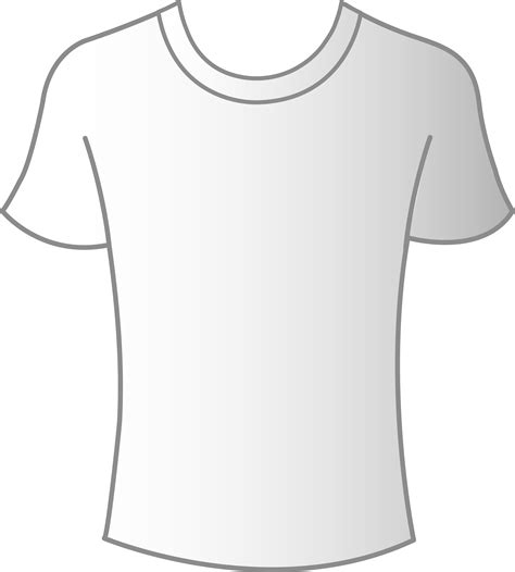 tshirt png clipart best mens white t shirt template free clip clipart best