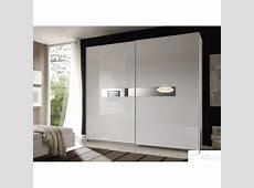 Lidia white high gloss wardrobe with sliding doors