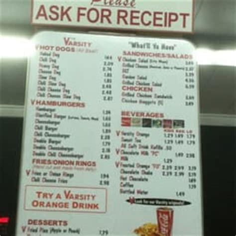 Seven Ls Atlanta Menu by The Varsity Drive In Of Ga Burgers Downtown Athens
