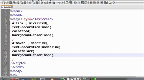 css tutorial  changing link color  cursor moves  itmp youtube