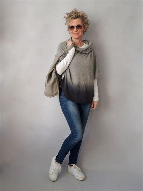 mode für kleine frauen mit bauch der poncho kann sportlich women2style