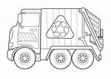 Truck Coloring Pages Recycling Garbage Colouring Trash Print Craft Template Fascinating Activity Colornimbus sketch template