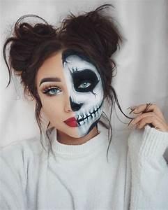 Maquillage Squelette Facile : 20 id es de maquillage halloween femme copier society19 fr ~ Dode.kayakingforconservation.com Idées de Décoration