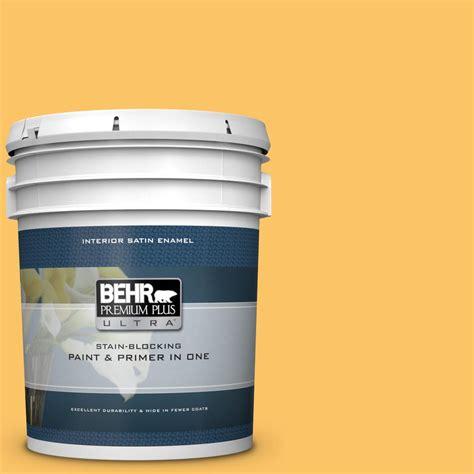 behr premium plus ultra 5 gal ppu6 06 honey locust satin