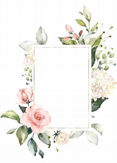 Baptism Watercolor Blush Cross Floral Frame Invitations