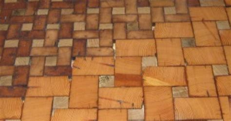 grain cobble block wood tile flooring hometalk