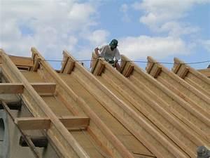 Toit En Paille : isolation de toiture en paille au petit puy de ossature ~ Premium-room.com Idées de Décoration