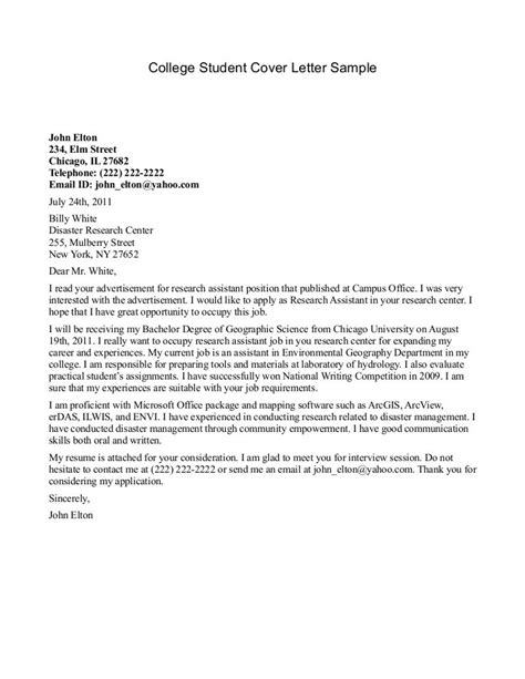 current college student cover letters perfect resume format