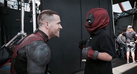 ryan reynolds shares   special visitor