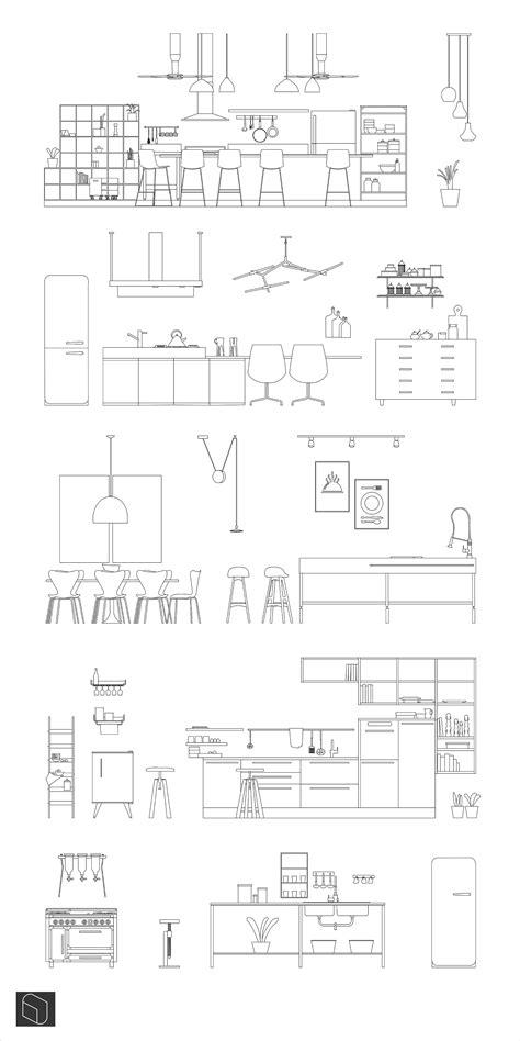 Modern Kitchen Dwg Ai Pdf | CAD | toffu.co | Handmade