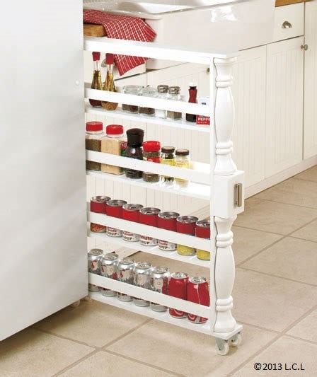 White Spice Rack by Slim Can And Spice Rack White Black Vertical