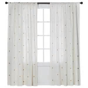 nate berkus metallic curtain panel target