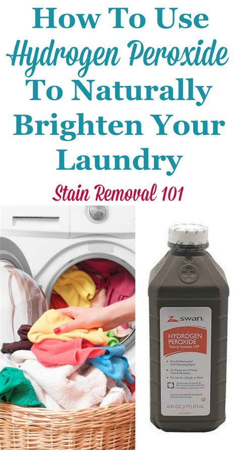 hydrogen peroxide on clothes uses of hydrogen peroxide for laundry