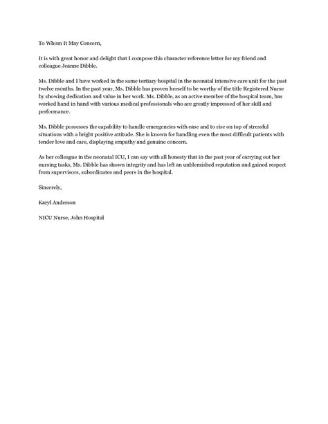 Personal Reference On Resume by Sle Personal Reference Letter For A Friend Best