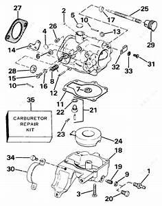 Johnson 1985 25 - J25rcos  Carburetor