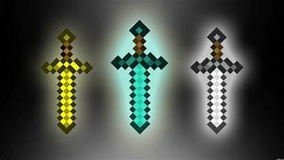 Minecraft Wallpapers Sword Diamond