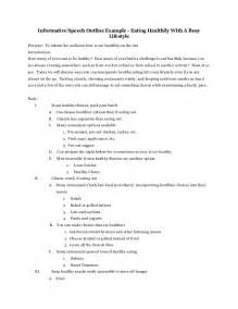 Informative Speech Outline Template Example