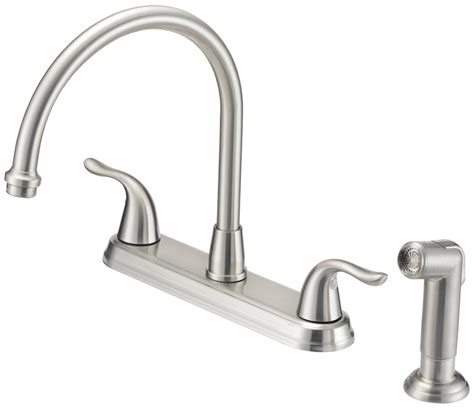 kitchen faucet finishes mintcraft 67387 1104 kitchen faucets 2 handle spray