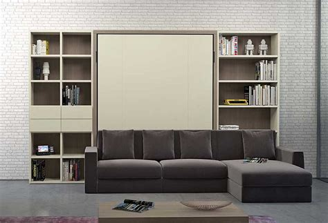 Nobu Double Murphy Bed With Sofa