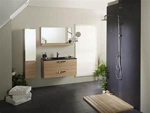le meuble colonne de salle de bain With salle de bain avec meuble en bois
