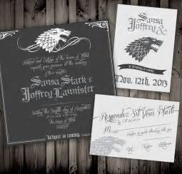 wedding invitations 1 not surprised of thrones wedding invitations geekologie