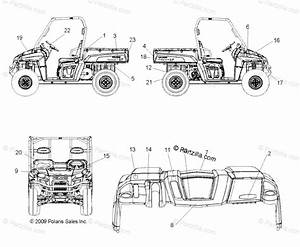 Polaris Side By Side 2010 Oem Parts Diagram For Body