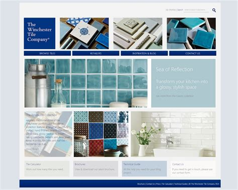 Tile Companies by The Winchester Tiles Company Launches New Website Home
