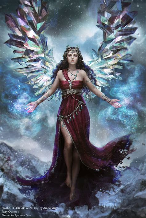 winter dress queen fantasy girl woman magic beauty