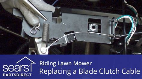 replacing  blade clutch cable   riding lawn mower