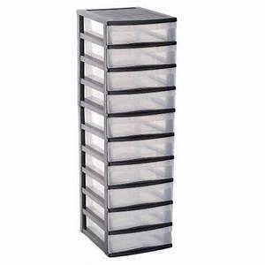 Tour De Rangement Plastique Pas Cher : tour de rangement plastique 10 tiroirs pas cher passions ~ Melissatoandfro.com Idées de Décoration