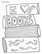 Reading Coloring Books Printables Pages Doodles sketch template