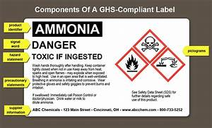Ghs compliant labels what are the essential components for Ghs labels include