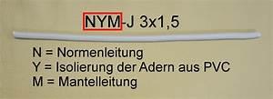 3x1 5 Nym : typenbezeichnung kabel leitung der elektriker ~ Frokenaadalensverden.com Haus und Dekorationen