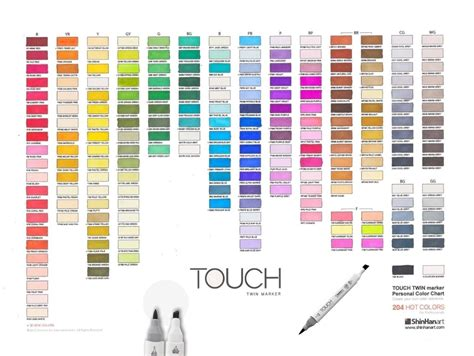 sheet sets all individual shinhan touch brush markers list